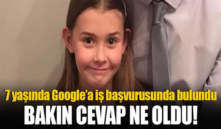 7 yaşında Google' a başvuru yaptı ve öyle bir cevap aldı ki...