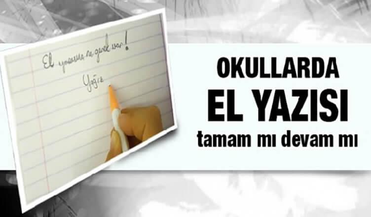 Talim ve Terbiye Kurulu el yazısı için gelecek hafta karar verecek