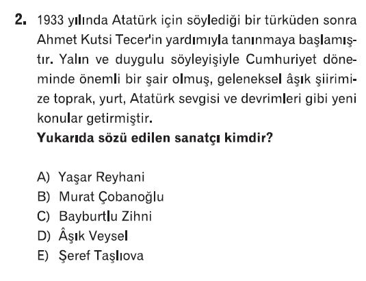 Online Test çöz 10sınıf Türk Edebiyatı 3ünite Halk Edebiyatı